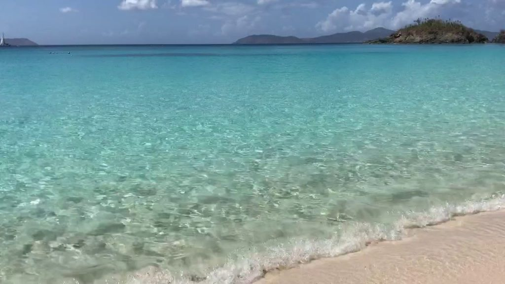 Short video of a beach on St John