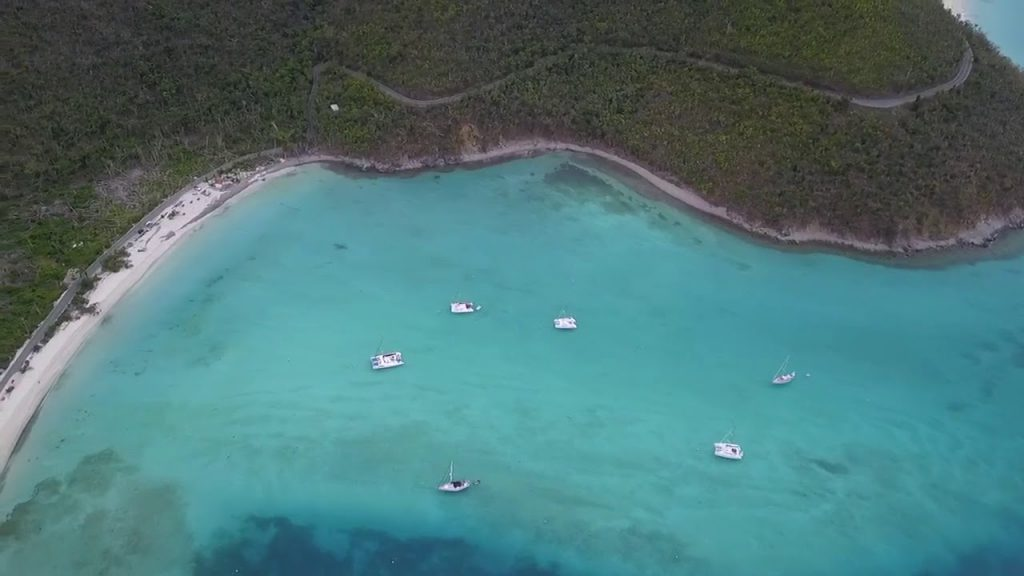 Drone aerial footage of St. John, US Virgin Islands