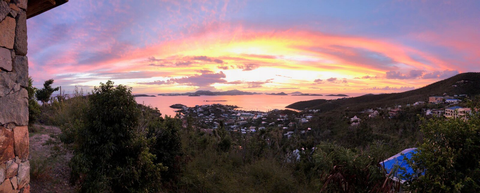 Sunset over St John