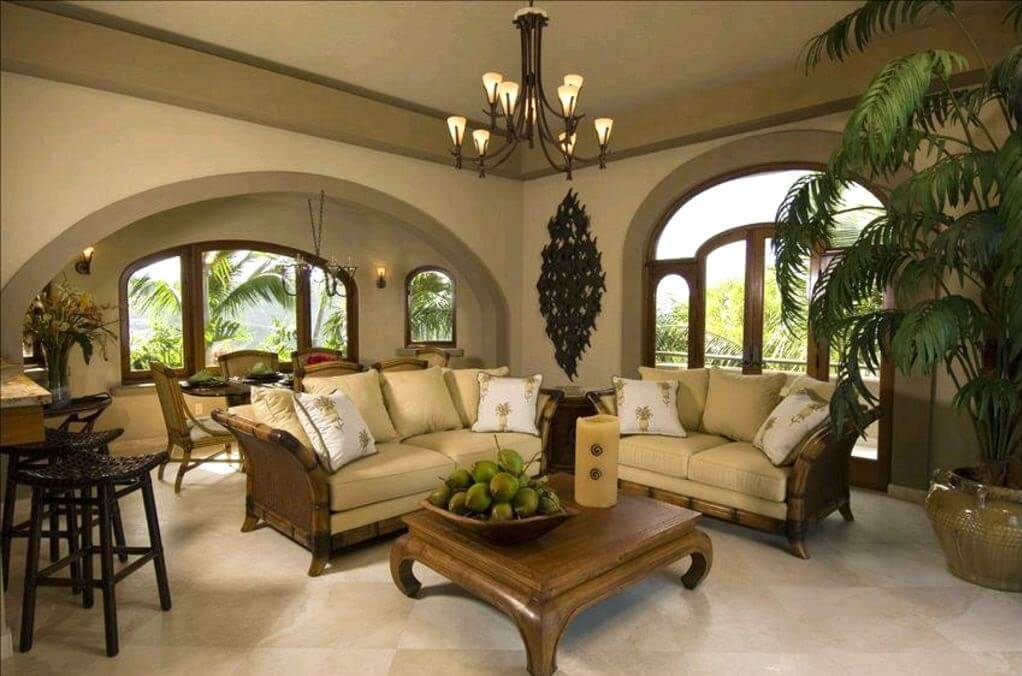 Expansive and Elegant Great Room and Adjoining Dining Area