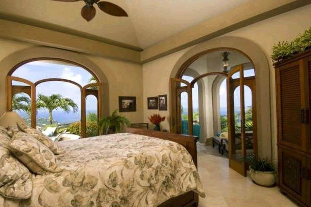 Casually Elegant Guest Bedroom with Private Covered Patio