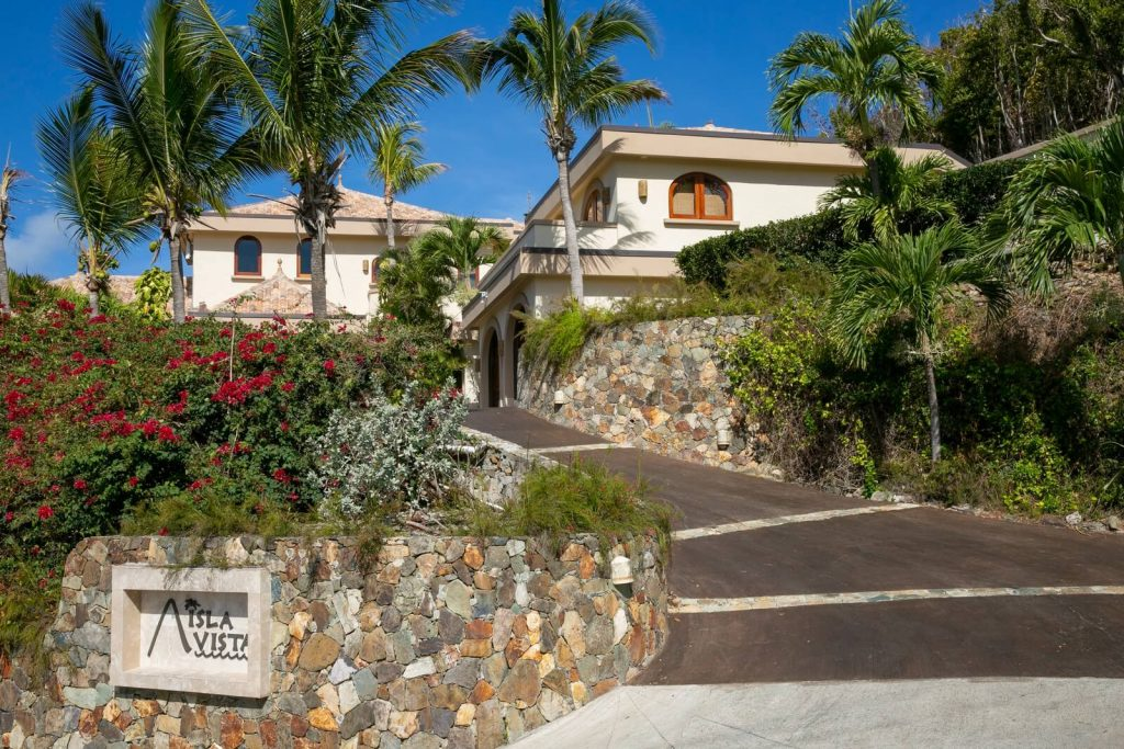 Entrance View Of Isla Vista, Your Vacation Home For Rent On St. John