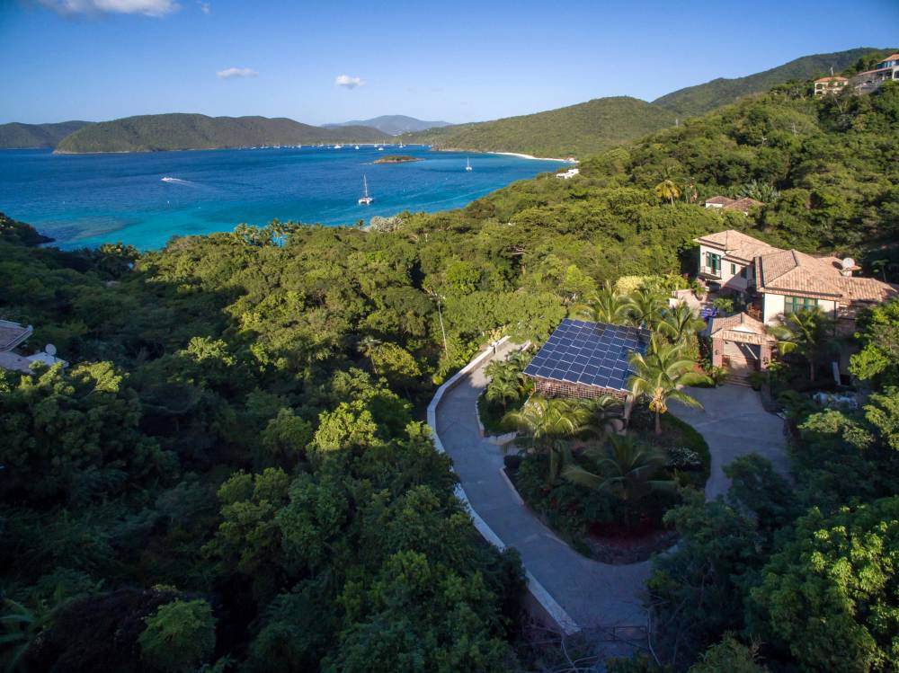 Aerial View Overlooking North Shore