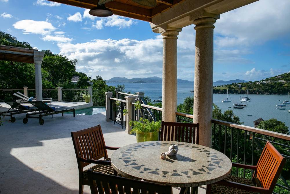 View from exterior dining deck